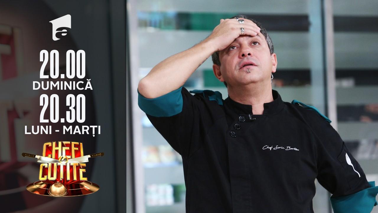 Eșec culinar în echipa lui chef Sorin Bontea? Sufleul i-a dat gata!