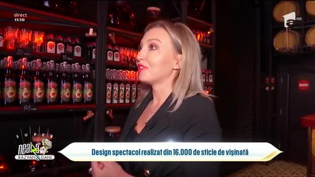 Design spectacol realizat din 16.000 de sticle de vișinată