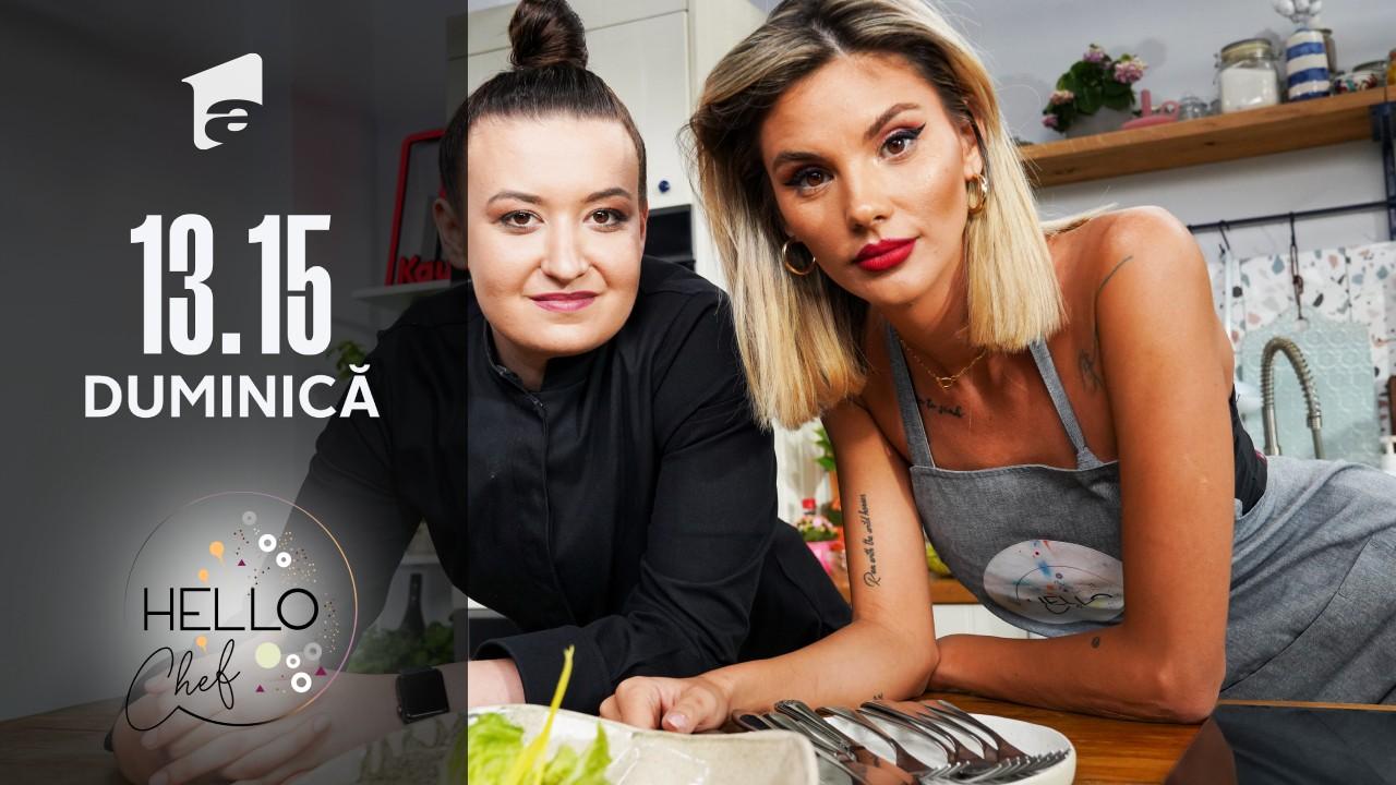 Sos Caesar delicios. Ramona Olaru și chef Roxana Blenche gătesc la Hello Chef