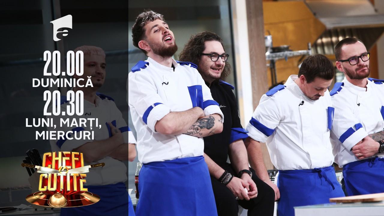 Emoțiile dau în clocot pentru cei nouă concurenți semifinaliști de la Chefi la cuțite Sezonul 9