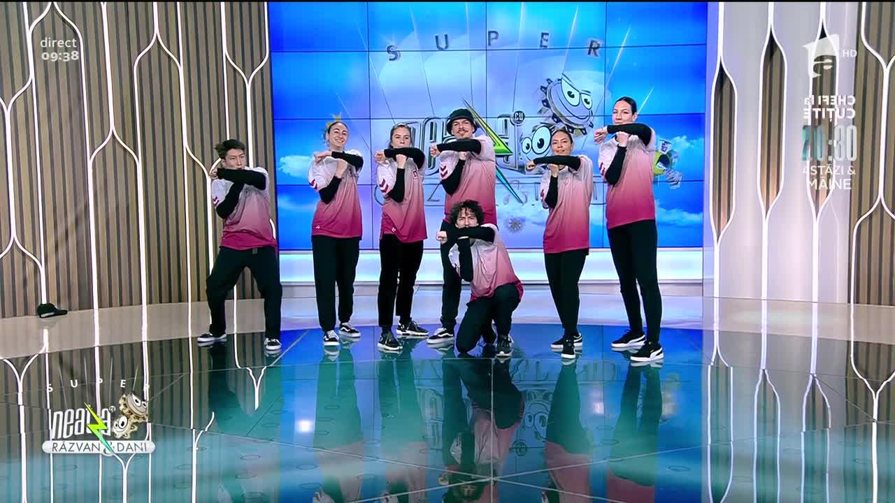 Trouble Crew, show de dans la Neatza cu Răzvan și Dani