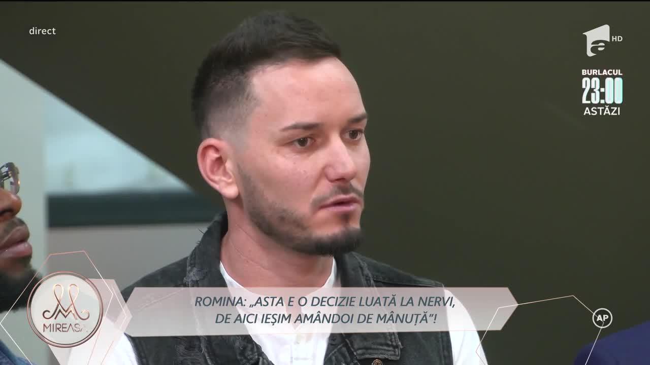 Ionuț și Romina, un prim obstacol în casa Mireasa! Concurentul a vrut să părăsească competiția