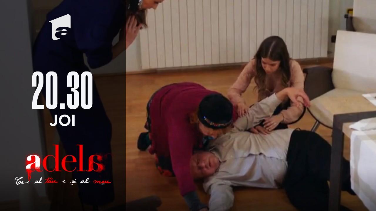 Adela, episodul 46. Mitu Achim cade inconştient în momentul în care vrea să le spună adevărul Adelei şi lui Mihai