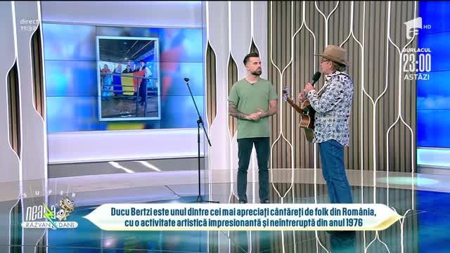 Ducu Bertzi cântă piesa Ziua ta, la Neatza cu Răzvan și Dani
