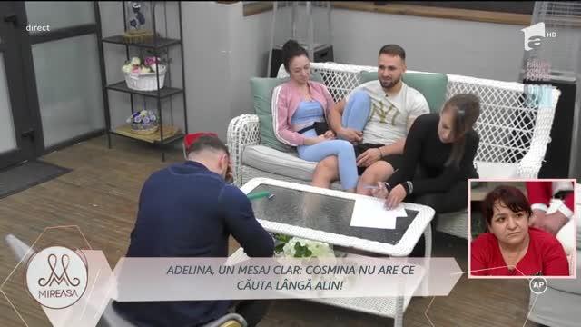 Adelina, un mesaj clar: Cosmina nu are ce căuta lângă Alin!