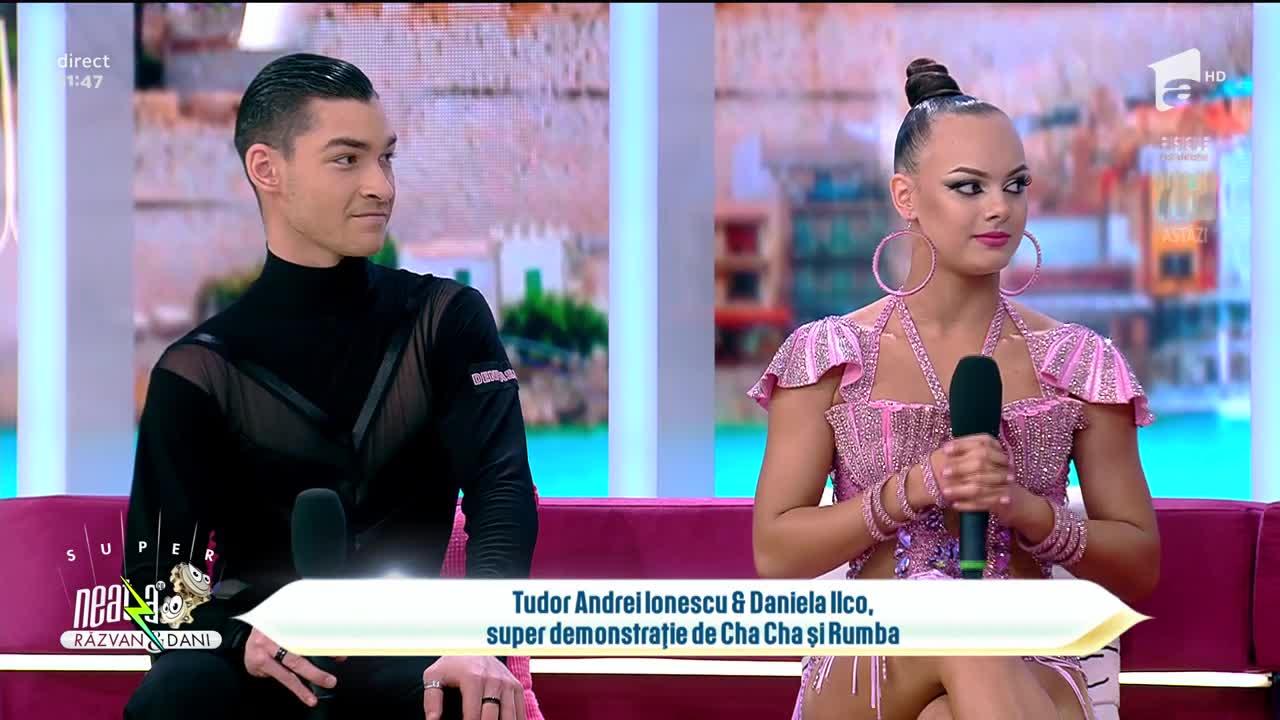 Tudor Andrei Ionescu și Daniela Ilco, dans spectaculos în platoul de la Neatza
