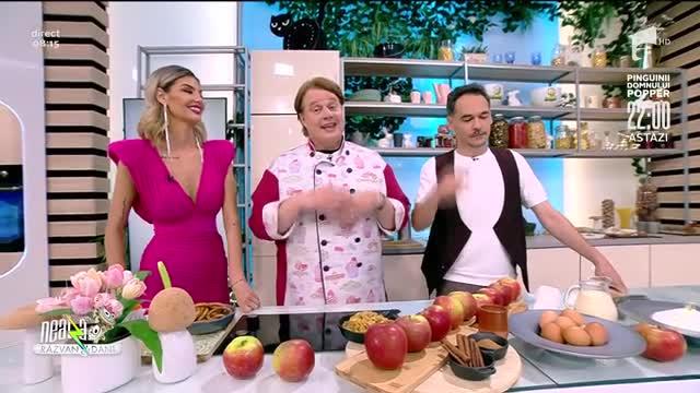 Ștrudel de mere cu sos și înghețată de vanilie, rețeta lui Vlăduț de la Neatza cu Răzvan și Dani