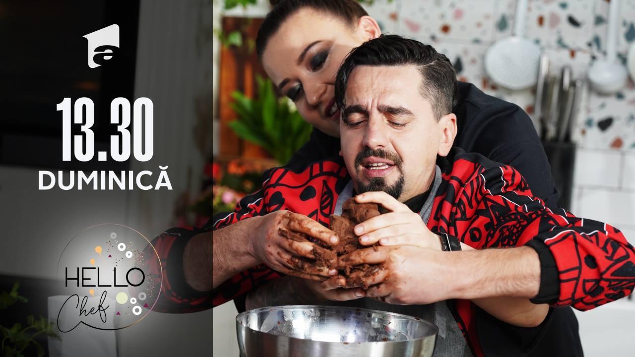 Cosmin Natanticu și chef Roxana Blenche, rețetă de ceafă de porc la Hello Chef