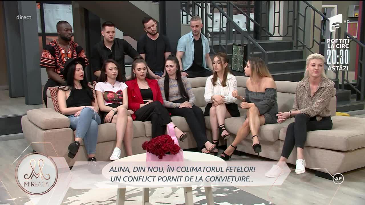 Alina, în război cu fetele din casa Mireasa!