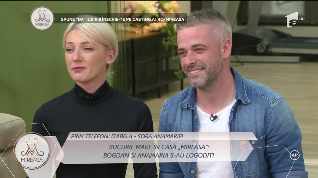 """Bucurie mare în Casa """"Mireasa""""! Bogdan și Anamaria s-au logodit! Ce mesaje au primit de la cei dragi"""