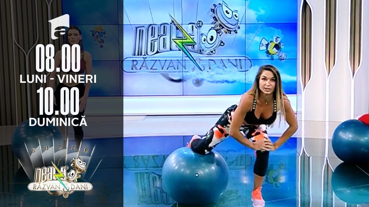Fitness cu Diana Stejereanu la Neatza! Un set de exerciții pentru abdomen cu ajutorul fitball-ului