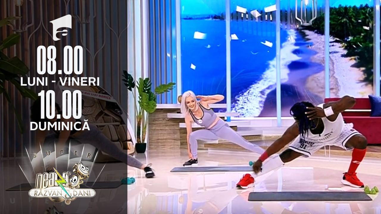 """Prima probă din concursul """"Cea mai sexy mămică"""": Finalistele au fost puse la treabă de exoticul instructor de fitness Fernando Polo"""