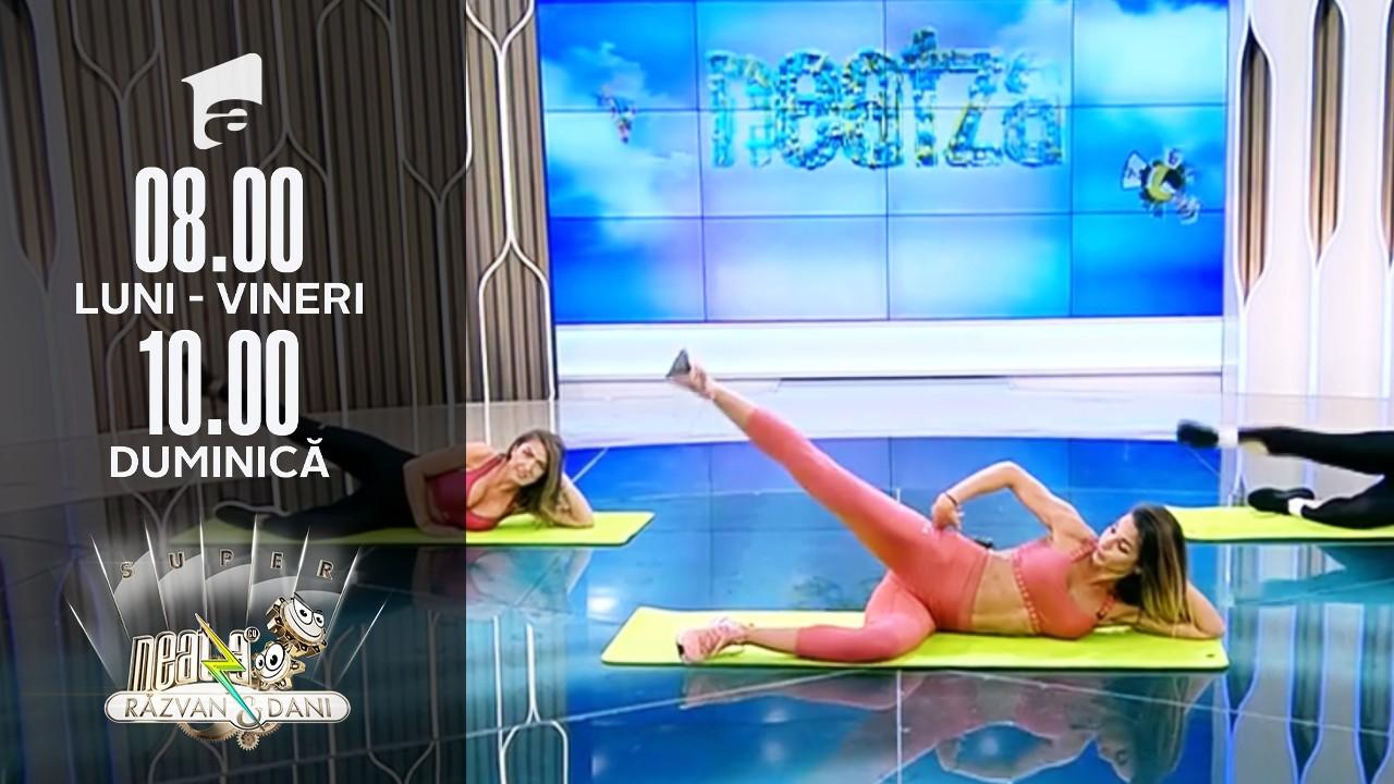 Fitness cu Diana Stejereanu la Neatza! O nouă sesiune de antrenament full body