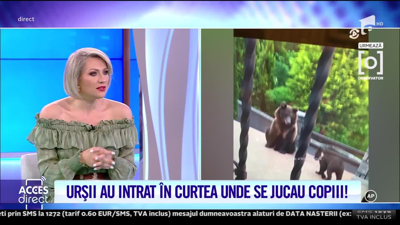 Copiii Alinei Pușcaș, la un pas de tragedie din cauza urșilor