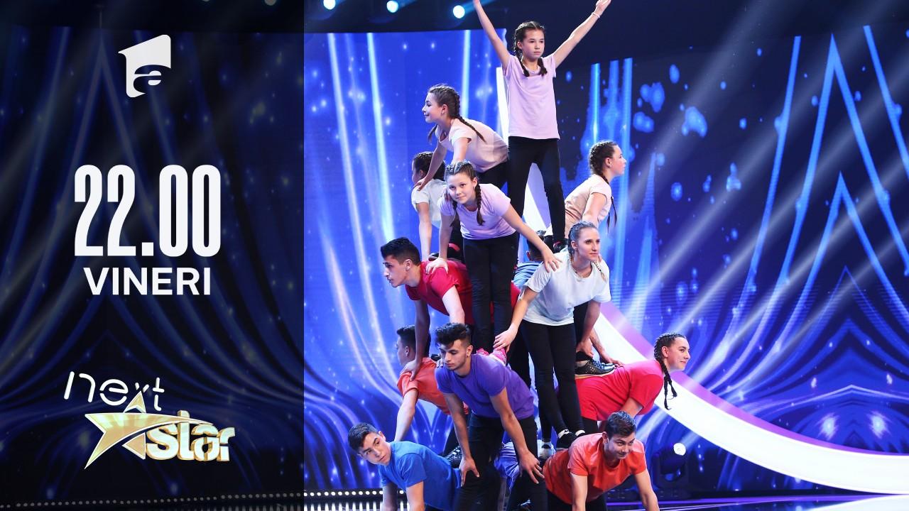 Next Star - Sezonul 10:  Școala Gimnazială Recea – moment de acrobație