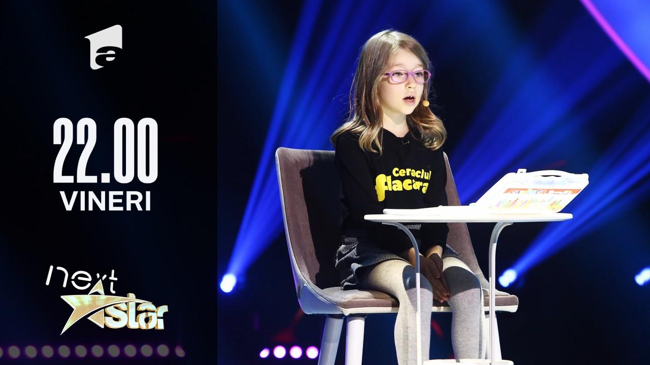 Next Star - Sezonul 10: Adriana Maria Păunescu – moment poezie și desen