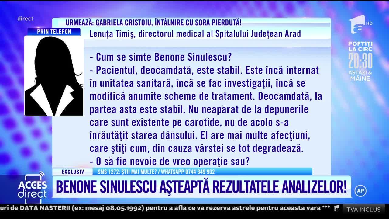 Acces Direct, 13 iulie 2021. Benone Sinulescu așteaptă rezultatele analizelor!
