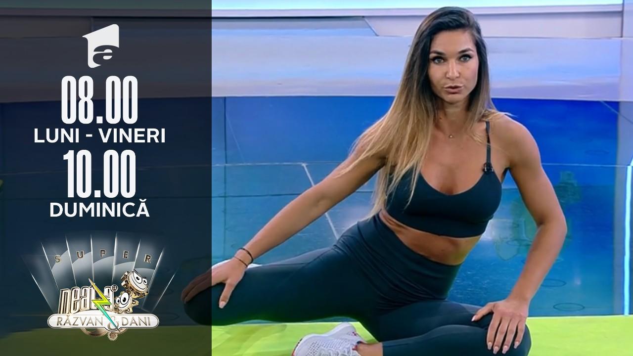 Neatza de Weekend, 18 iulie 2021. Fitness cu Diana Stejereanu - antrenament de cinci minute