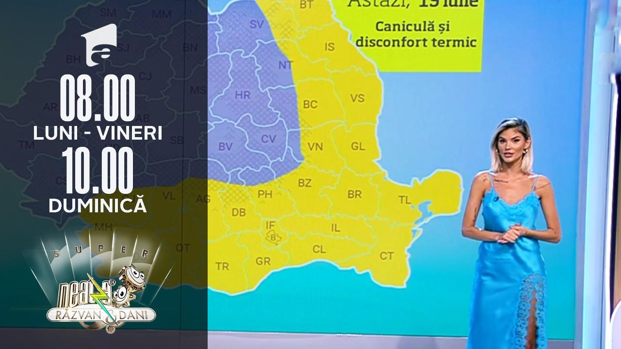 Super Neatza, 19 iulie 2021. Prognoza Meteo cu Ramona Olaru: Începutul acestei săptămâni aduce vreme în general instabilă