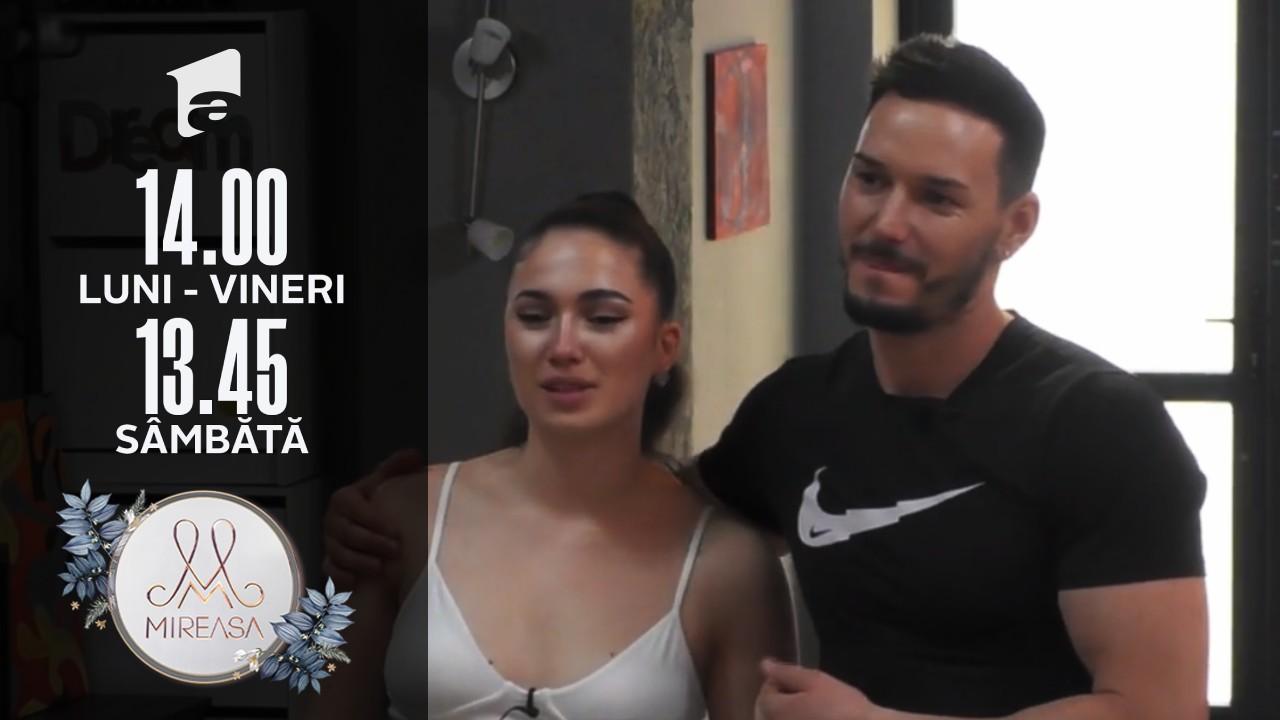 Mireasa Sezonul 3, 19 iulie 2021. Ionuț și Romina au fost eliminați, dar măcar au plecat împreună!