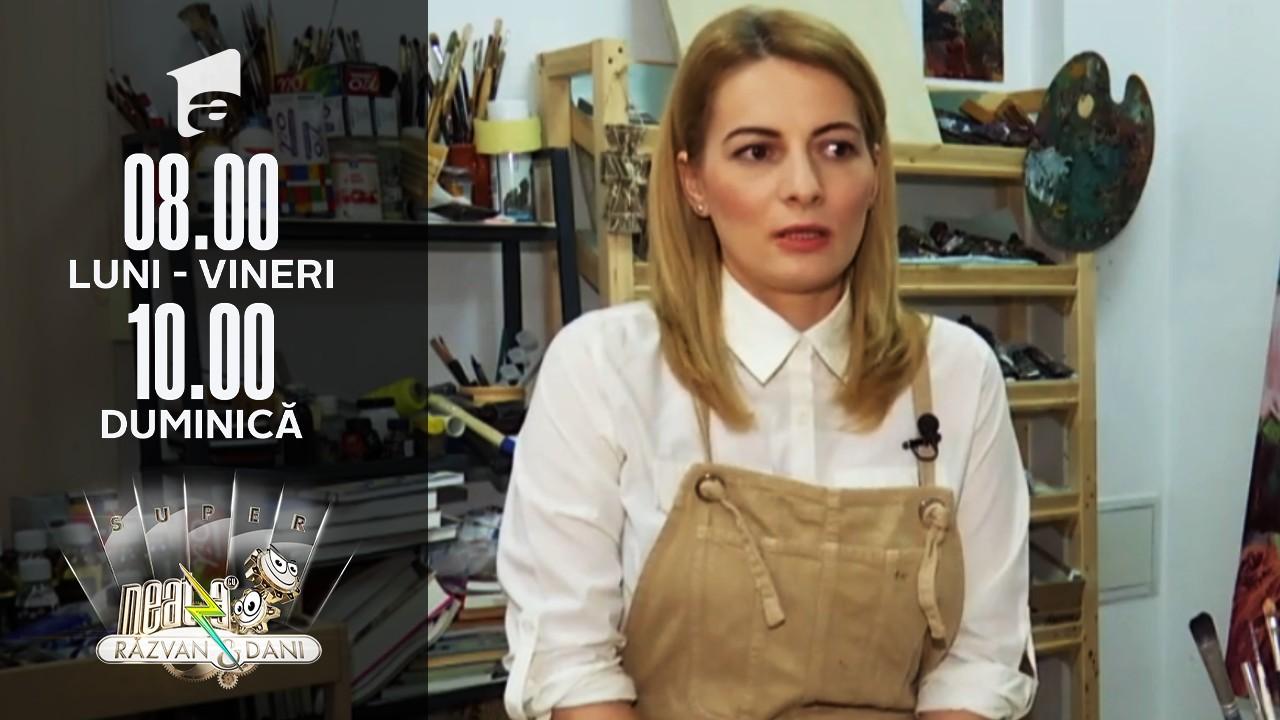 Super Neatza, 26 iulie 2021. Sabina Legănaru nu a renunțat la pasiunea pentru pictură, chiar dacă a terminat matematică-informatică