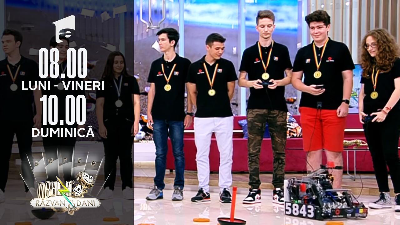 Super Neatza, 26 iulie 2021. Echipa Națională de Robotică a României - Autovortex, campioană mondială la robotică