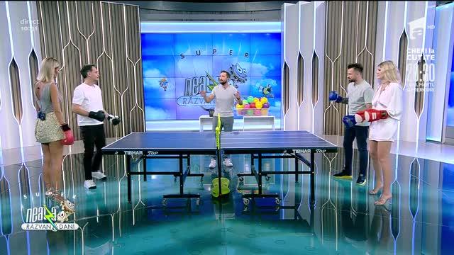"""Super Neatza, 27 iulie 2021. Provocarea """"Box-pong"""". Iată cine a câștigat jocul de ping-pong cu mănuși de box!"""