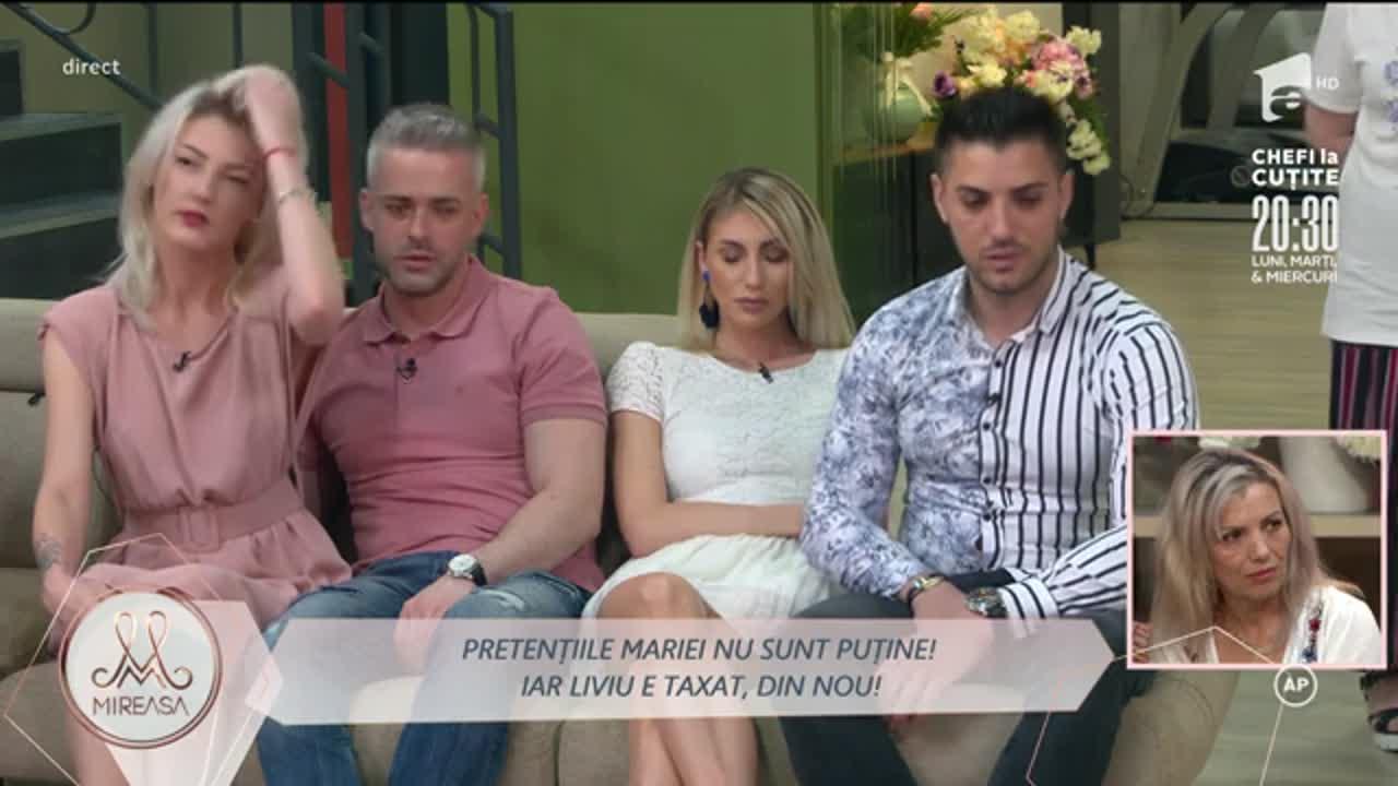 Mireasa, 27 iulie 2021, sezonul 3. Maria s-a supărat pe Liviu: Nu e gelozie, e lipsă de bun simț!