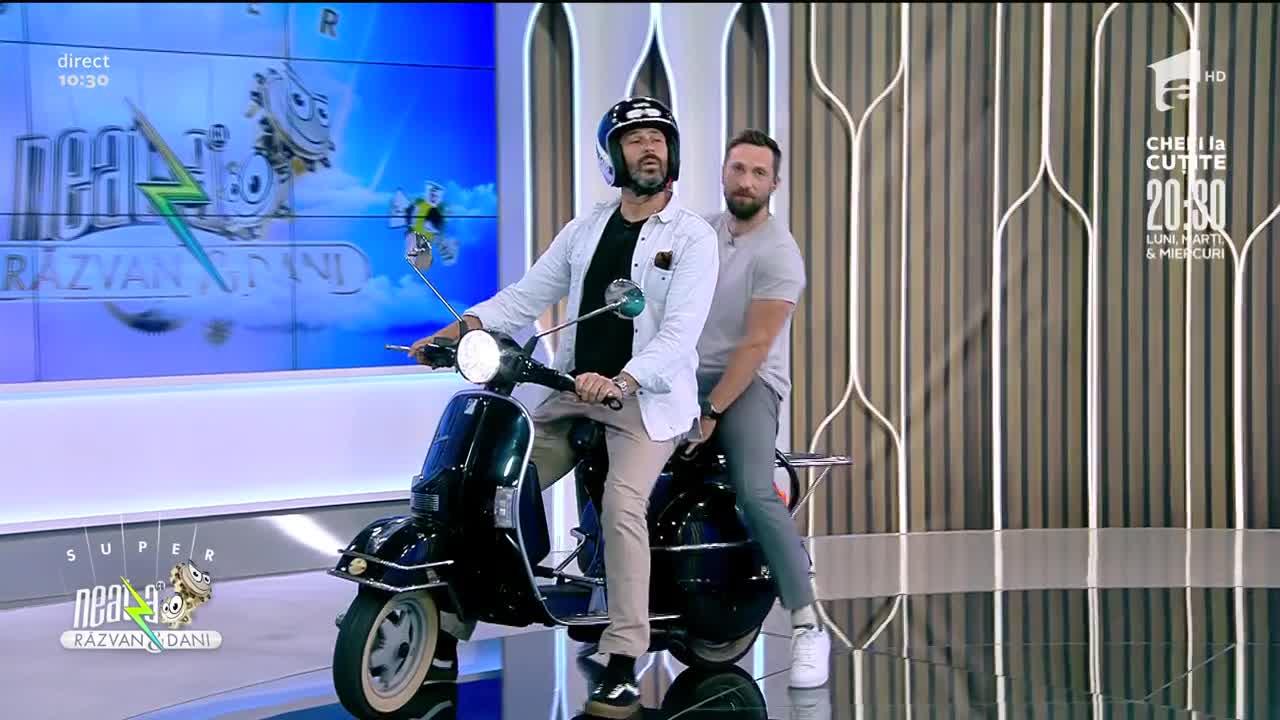Super Neatza, 27 iulie 2021. Cum arată scuterul de colecție al lui chef Nicolai Tand: Frâna este la picior!