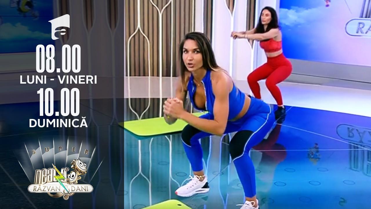 Super Neatza, 29 iulie 2021. Fitness cu Diana Stejereanu - Antrenament full body progresiv