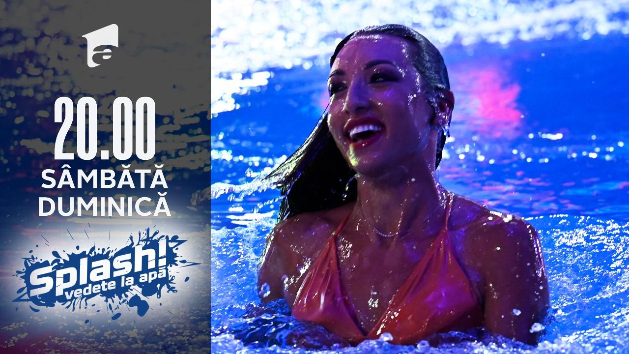 Splash! Vedete la apă, 22 august 2021. Natalia Duminică a sărit de la cel mai înalt nivel și a făcut senzație