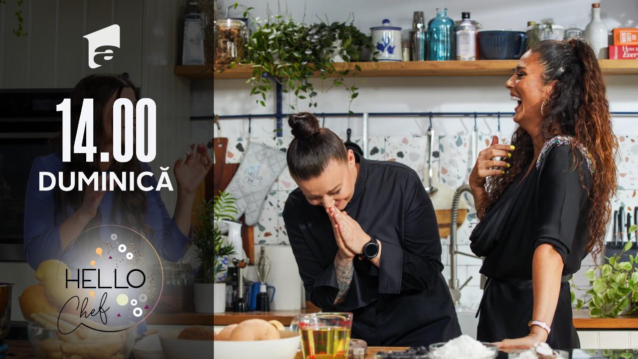 Hello Chef sezonul 2, 29 august 2021. Roxana Blenche şi Cream prepară chipsuri de legume