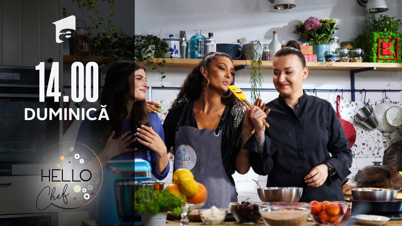 Hello Chef sezonul 2, 29 august 2021. Roxana Blenche şi Cream pregătesc un desert delicios - Cheescake vegan