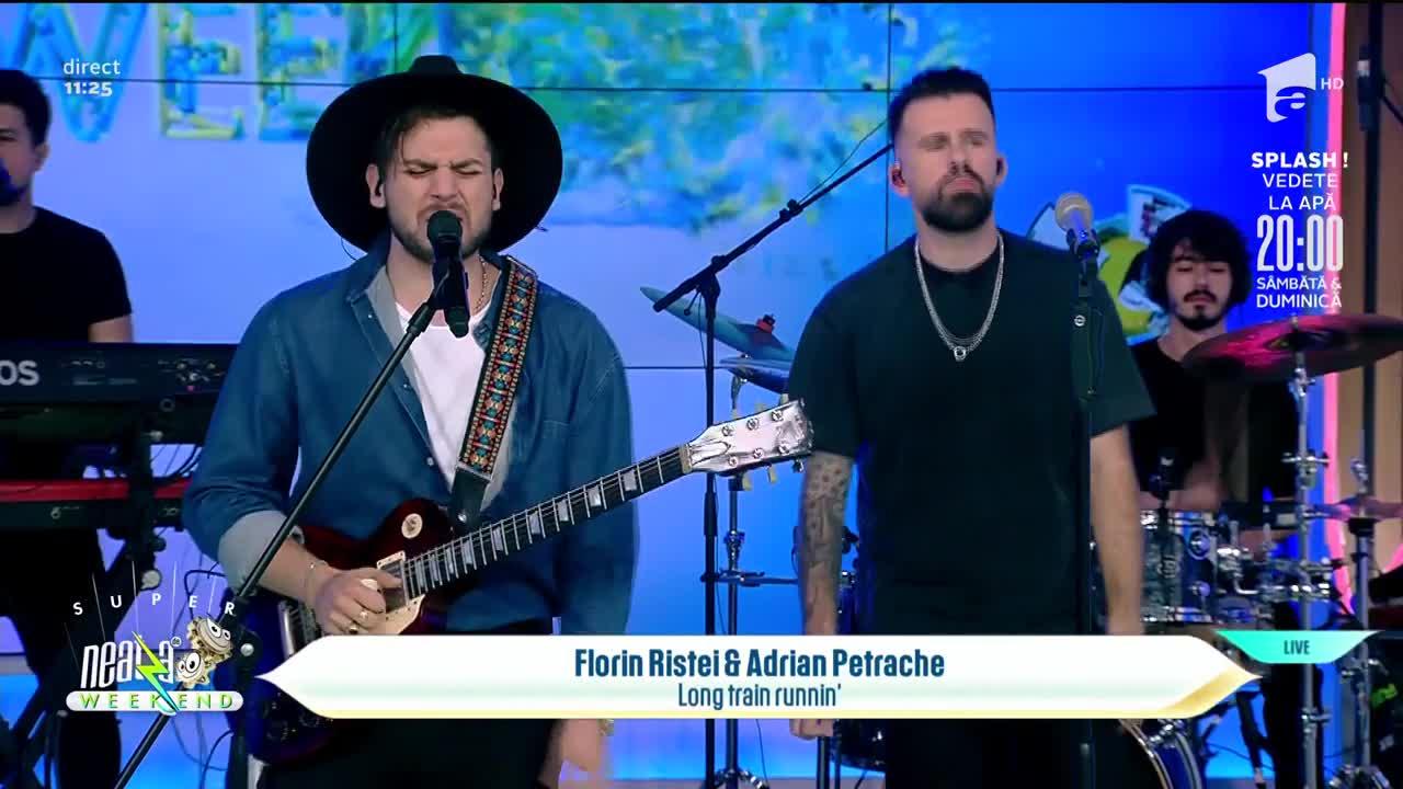 """Neatza de Weekend, 29 august 2021. Florin Ristei şi Adrian Petrache cântă LIVE piesa """"Long train runnin"""""""