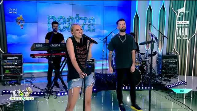 """Neatza de Weekend, 29 august 2021. Florin Ristei şi Ilona Brezoianu cântă LIVE piesa """"When I Was Your Man"""""""
