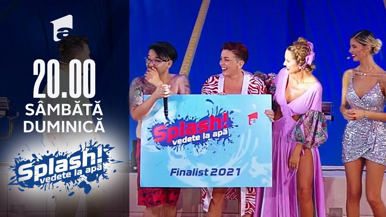 Splash! Vedete la apă, 5 septembrie 2021. Sandy Medini și Rikito Watanabe au câștigat a șasea ediție Splash! Vedete la apă
