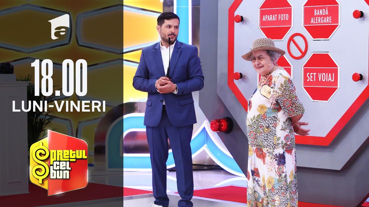 Preţul cel bun sezonul 1, 7 septembrie 2021: Emilia Sârbu a câștigat o mașină de spălat rufe