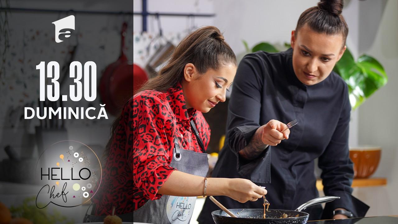 Hello Chef sezonul 2, 12 septembrie 2021. Roxana Blenche și Nicole Cherry prepară o super reteță de pui