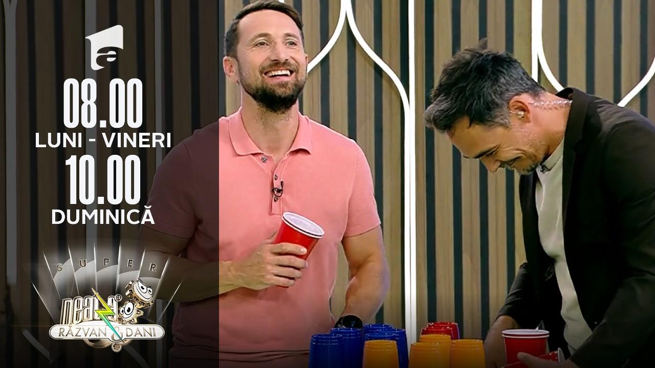 """Super Neatza, 14 septembrie 2021. Matinalii au pus în scenă jocul """"paharelor"""""""