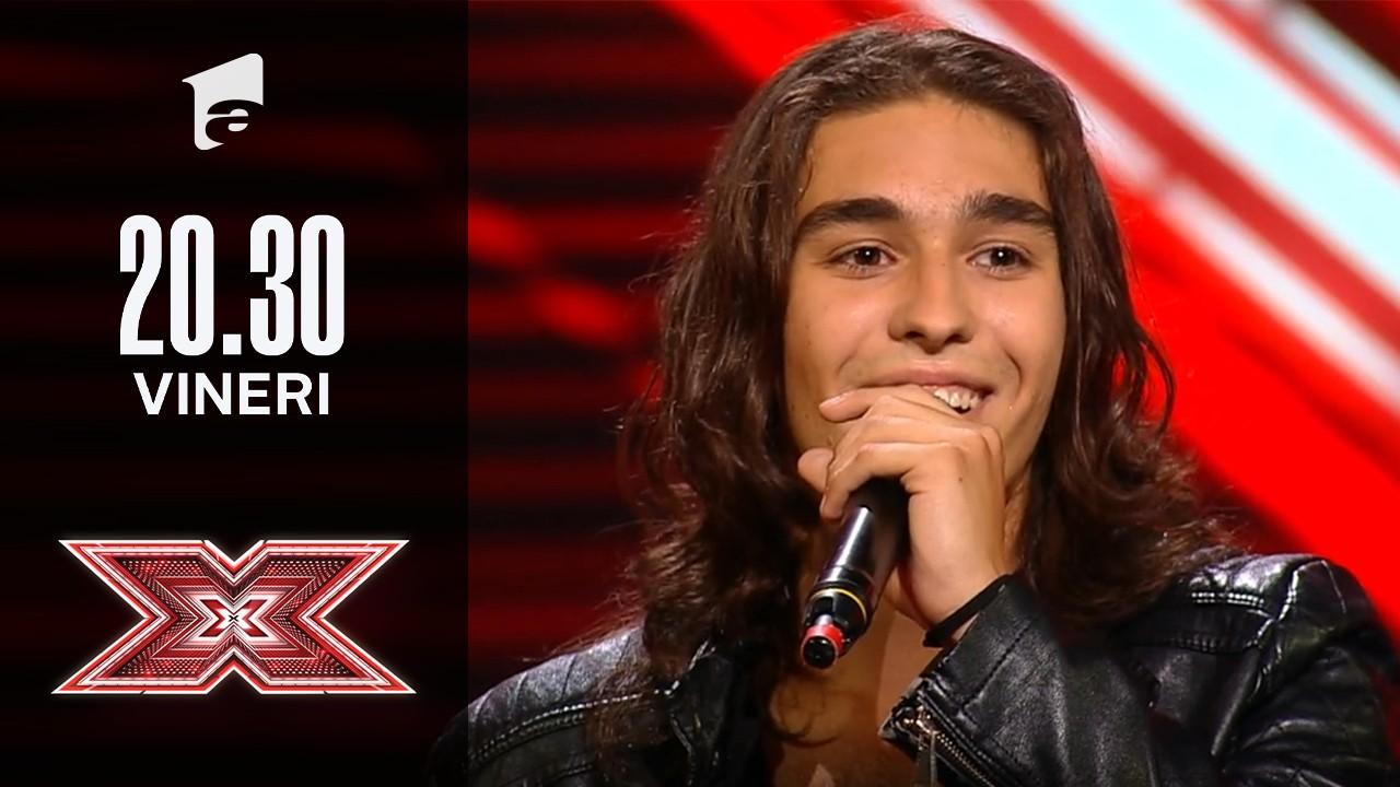 X Factor sezonul 10, 17 septembrie 2021: Petru Cristian Georoiu: Paul Anka - Put Your Head On My Shoulder