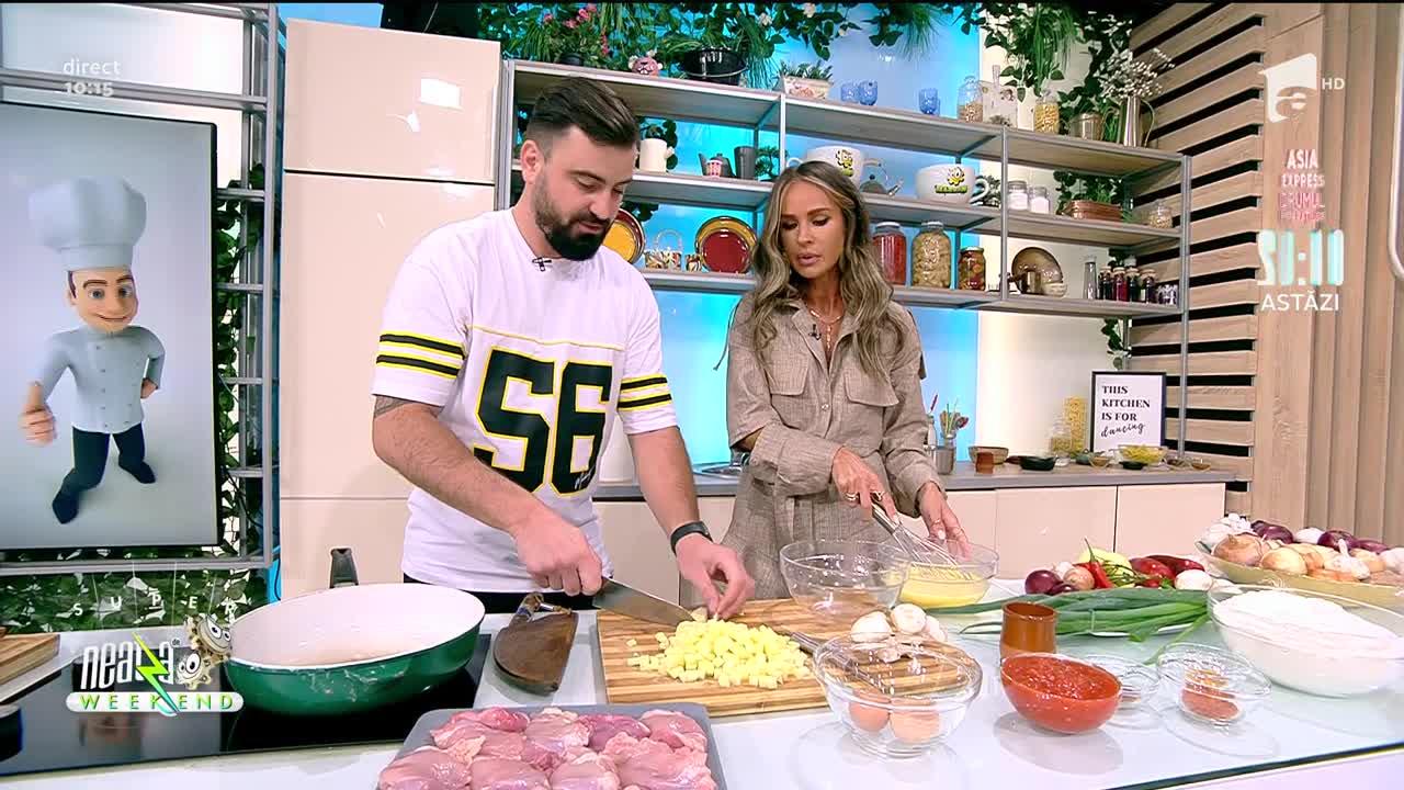 """Neatza de Weekend, 26 septembrie 2021. Cătălin Rizea a gătit """"Tigaie picantă"""""""