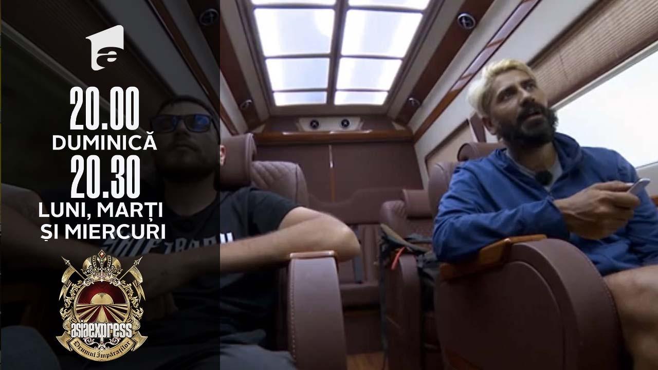 Asia Express sezonul 4, 27 septembrie 2021. Shift și Connect-R au ascultat Biblia în mașină