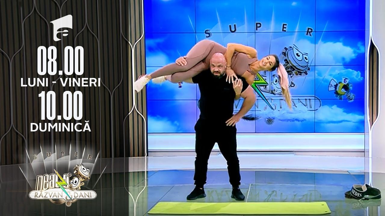 Super Neatza, 30 septembrie 2021. Răzvan Breslaşu, demonstrație de forță! Diana Stejereanu, pe post de ganteră
