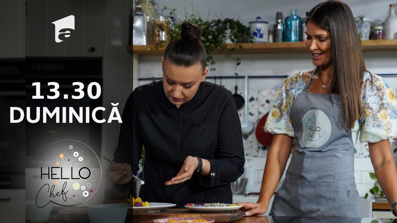 Hello Chef sezonul 2, 3 octombrie 2021. Roxana Blenche învață câteva exerciții de izometrie de la Alina Pușcaș