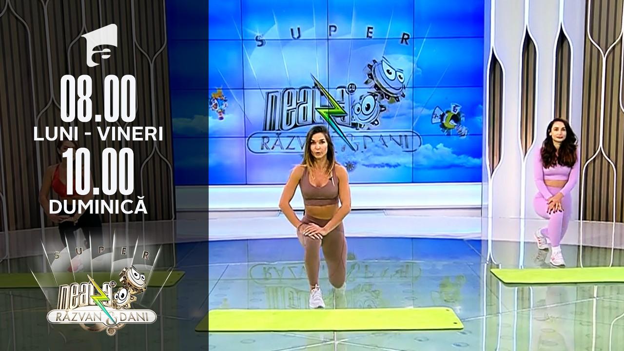 Super Neatza, 7 octombrie 2021. Cel mai eficient antrenament full body. Sfaturi de la Diana Stejereanu