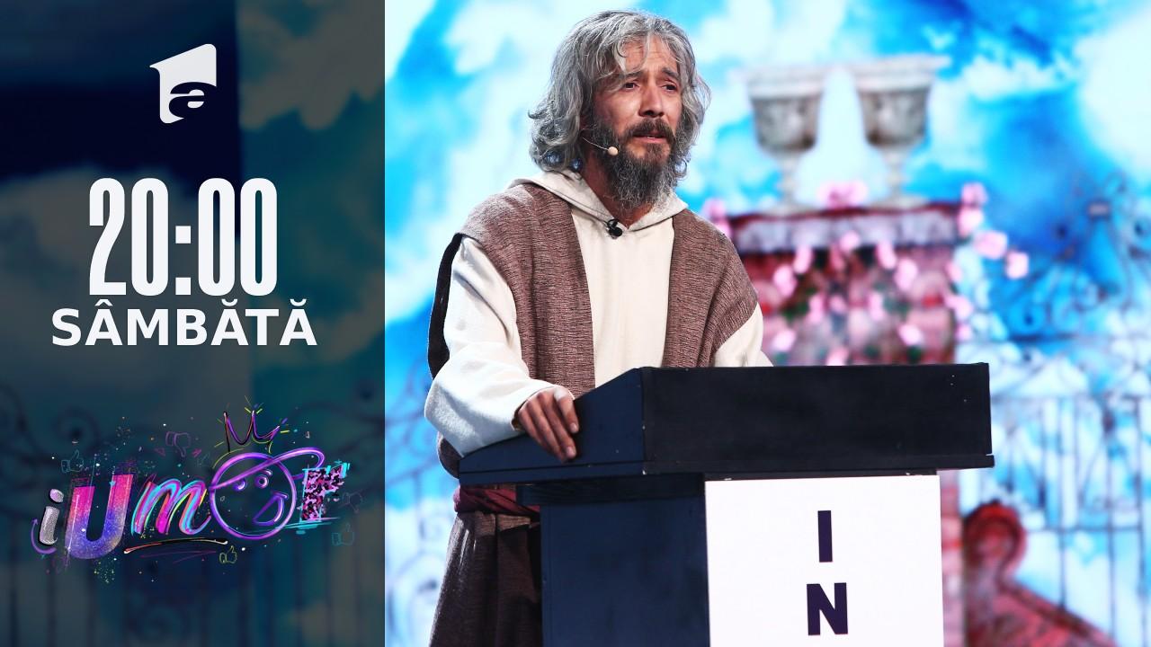 iUmor Sezonul 11, 9 octombrie 2021. Vlad Corbeanu l-a adus pe scenă pe Sfântul Petru