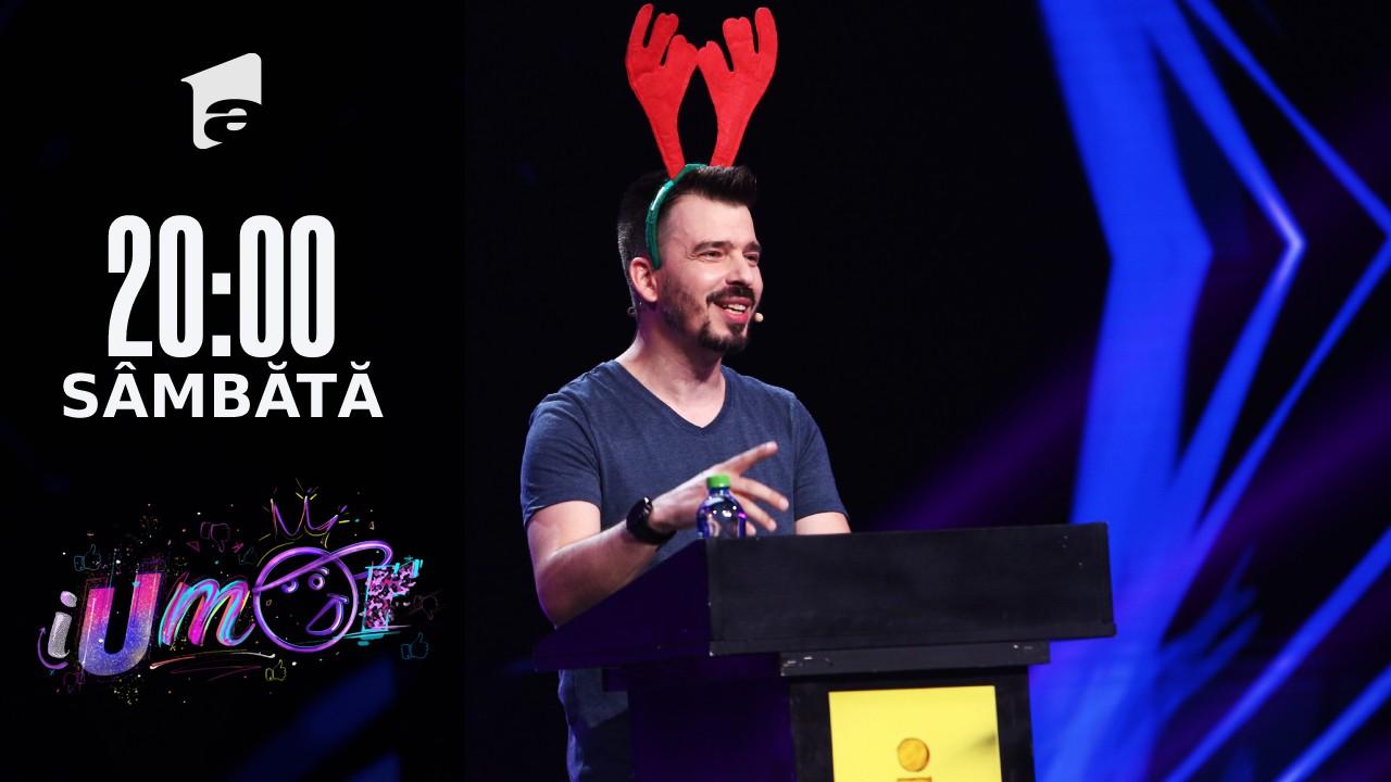 iUmor Sezonul 11, 9 octombrie 2021. Andrei Garici, super roast: Am câștigat doar pentru că sunt iubita lui Mihai Bendeac