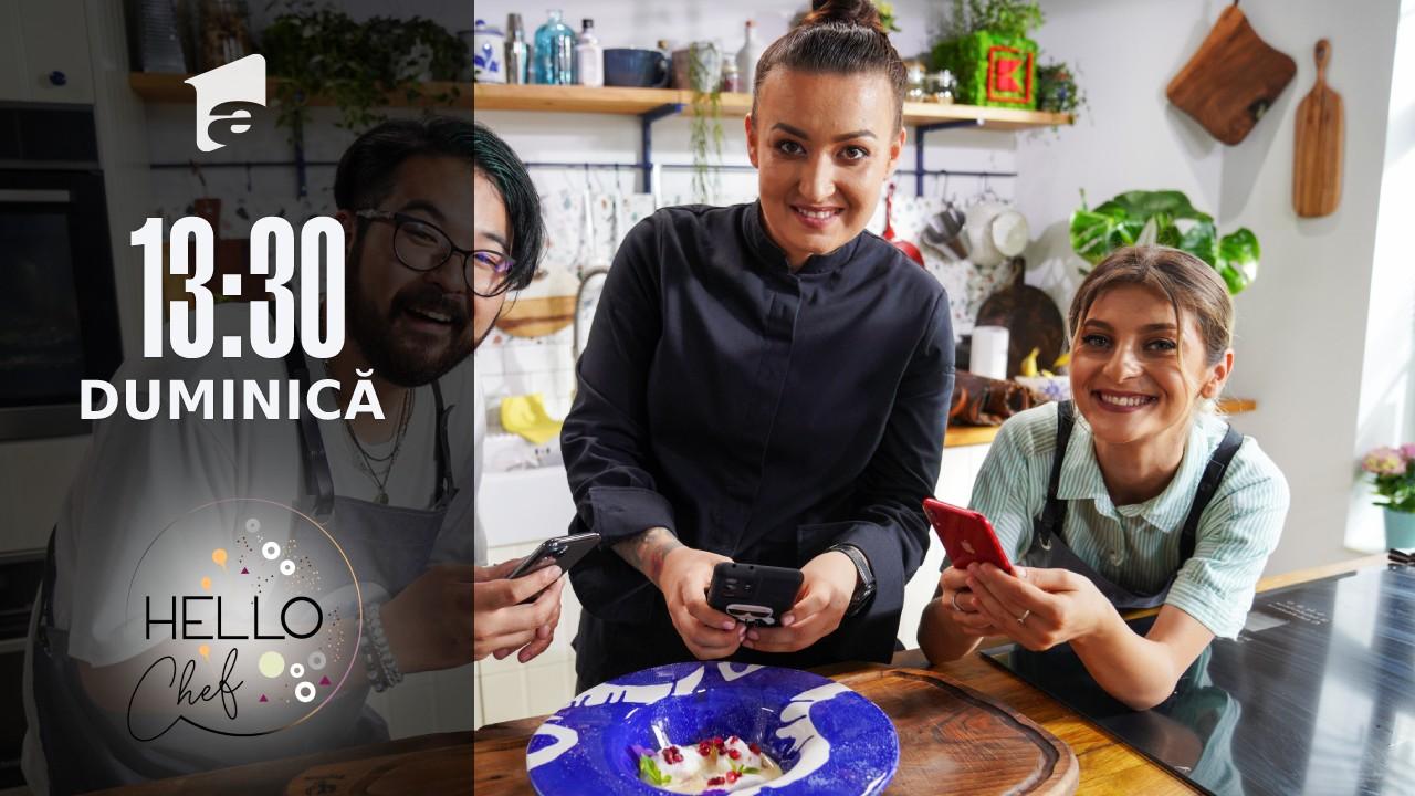 Hello Chef sezonul 2, 10 octombrie 2021. Roxana Blenche, Riki și Elena Matei au preparat lapte de pasăre