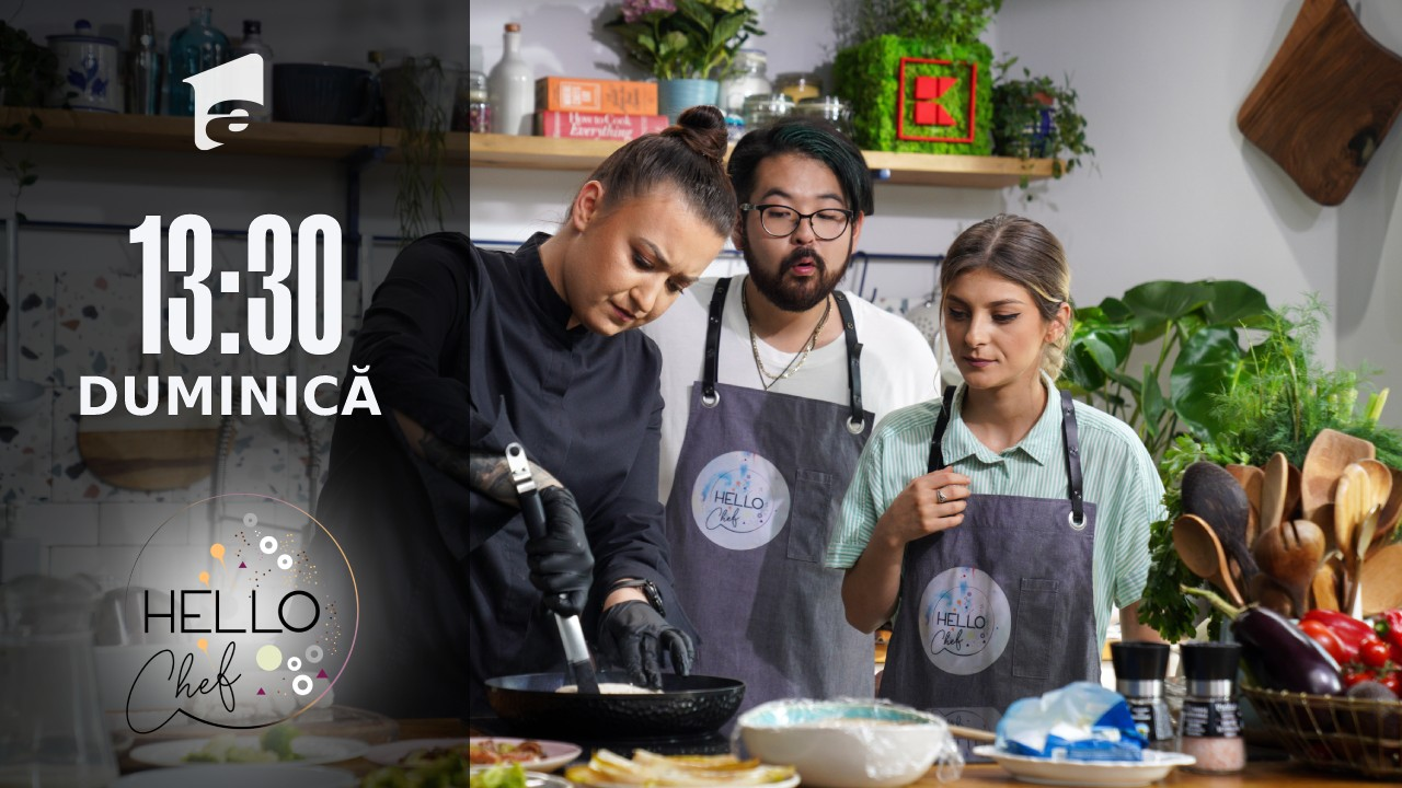 Hello Chef sezonul 2, 10 octombrie 2021. Roxana Blenche, Riki și Elena Matei au preparat piept de pui cu piure de ciuperci