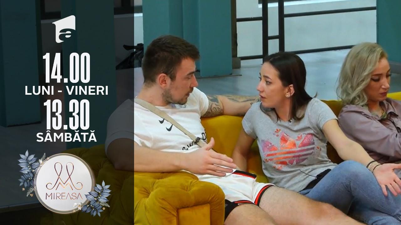 Mireasa Sezonul 4, 14 octombrie 2021. Victor, încercări de a detensiona situația dintre Adelina și Andrada!